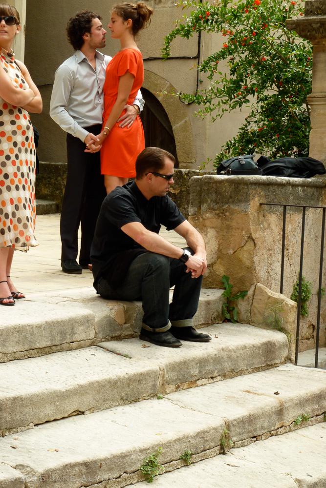 On the Church Steps, Lourmarin, France