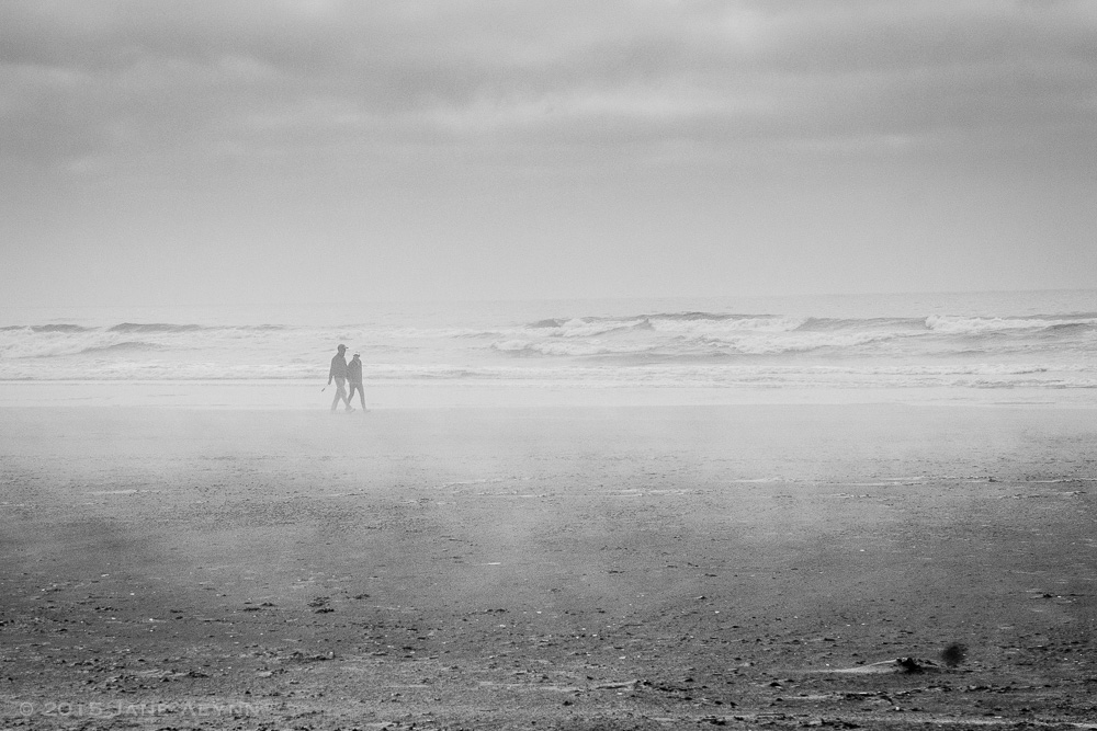 Couple on the Beach, Waldport, OR