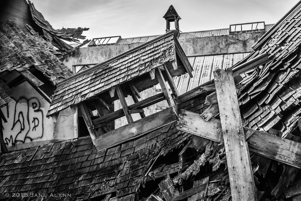 Collapsed Barn, Northern State Hospital, Sedro-Woolley