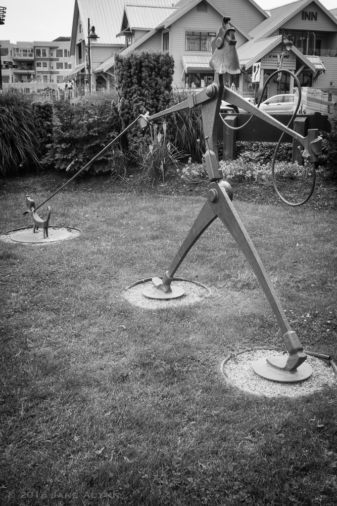 Sculpture in Beacon Park, Sidney, BC