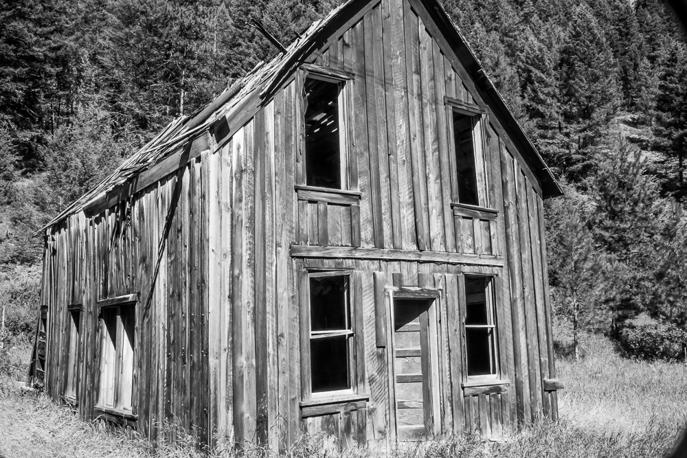 Abandoned homestead in Bodie